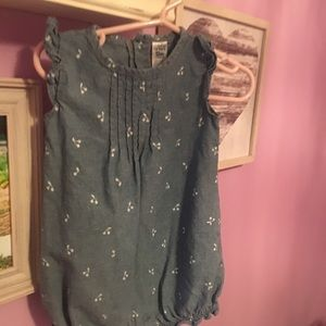 Adorable chambray Carter's romper!